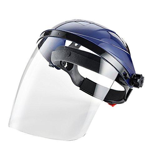 Maschera di sicurezza trasparente Shield Safety, visiera di protezione per viso e occhi Blue