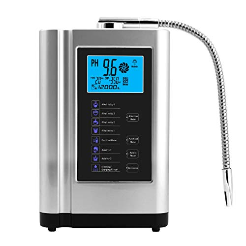 Product Image 1: AlkaDrops Water Ionizer, Water Purifier Machine PH 3.5-10.5 Alkaline Acid Water Machine,Up to -500mV ORP, 6000 Liters Per Filter,7 Water Settings,Auto-Cleaning,Intelligent Voice(silver)