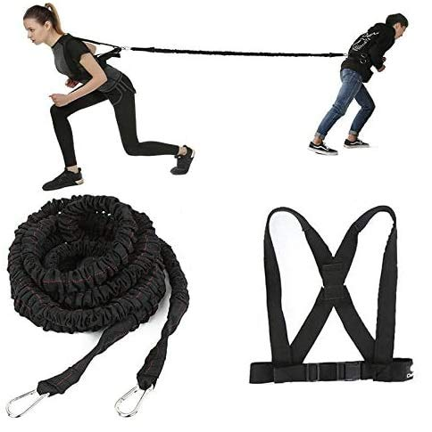 IRIS Fitness Resistance Training Anchor Harness for Speed Acceleration Increase, Overspeed Sports Training System | 4 Feet Resistance Bungee Cord, Extension Attachment