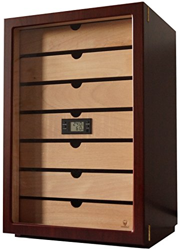 GERMANUS Veter Humidor Armadio de marque con Digital igrometro e GERMANUS Cristallo Umidificatore...