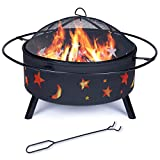 Outdoor Fire Pits Wood Burning Firepits for Outside,32 Inch