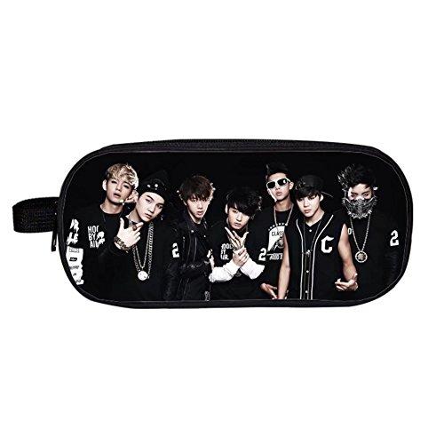 Falaidi - Astuccio doppio per la scuola, del gruppo K-pop Bangtan Boys (BTS), per riporre cancelleria e monete, idea regalo per i fan dei BTS, Uomo, 7, Taglia unica