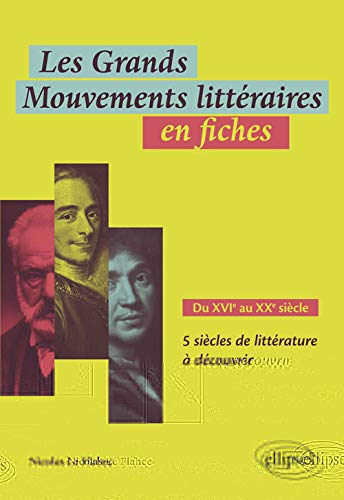Les Grands Mouvements littéraires en fiches. Du XVIe au XXe siècle