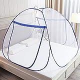 Moustiquaire Pop Up pour lit double, fermeture à glissière à double porte, tente portable,...