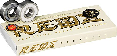 Bones Ceramic Super Reds Skateboard Bearings 8 Pack
