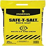 Morton Safe-T-Salt Rock Salt 25.0 LB For Snow And Ice Removal
