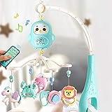 Weichuang Jouets pour bébés Nouveau-né bébé Jouets Teether hochets Rotating Music Box Lit Mobile Lit de Bell avec la lumière à Distance de contrôle des Jouets Anciens Education Jouets (Color : A)