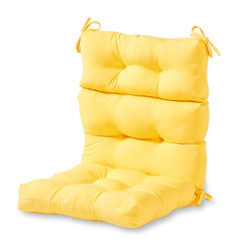 Greendale Home Fashions AZ4809-SUNBEAM Sunburst 44'' x 22'' Outdoor Seat/Back Chair Cushion, Set of 1