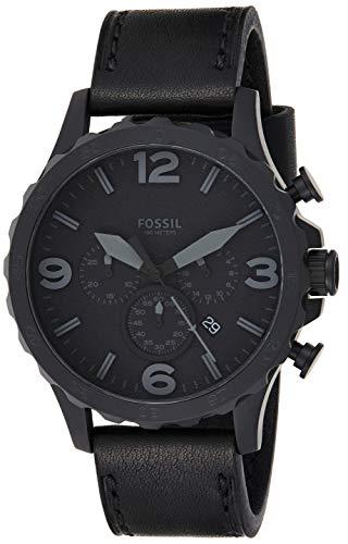 Fossil Herren Chronograph Quarz Uhr mit Leder Armband JR1354