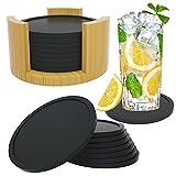 Dessous de Verre Silicone Ronds - Set De 8 Sous-verres Avec Boîte I Design...