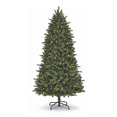 NOMA 7.5-Foot Pre-lit Christmas Tree with Lights | Colorado Pine | 500 Color-Changing LED Bulbs | Clear Warm White and Multicolor Lights | 1358 Branch Tips