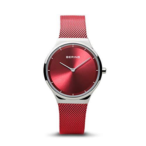 BERING Damen Analog Quartz Uhr mit Milanaise Armband 12131-303