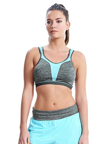 Freya Women's Active Soft Cup Crop Top Sports Bra, Carbon, 32F