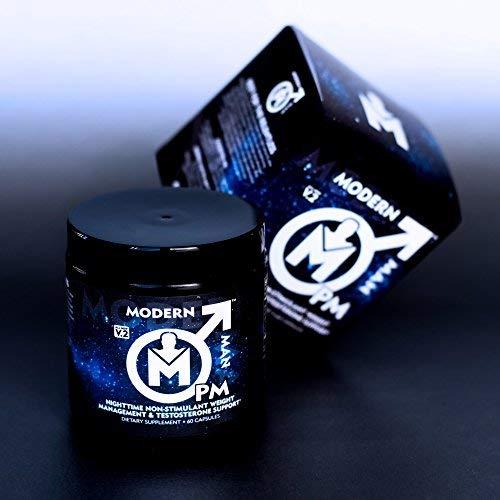 Modern Man PM Fat Burner - Sleep Aid, Weight Loss & Testosterone Booster for Men, Best Night Time Metabolism Booster & Caffeine Free Sleep Supplement | Burn Belly Fat & Build Lean Muscle, 60 Pills 5