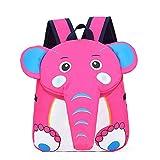 Mochilas Lindas del Niño Mochila De Los Niños Bolsa De La Escuela Elephant Travel Daypack Pink