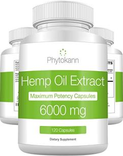 Hemp Oil Capsules 6000 Mg (120 Capsules   120 Servings) - Best 100% Organic Hemp Oil Extract for Pain Support - Natural Anxiety and Immune Support with Omega 3 6 9 - Made in USA