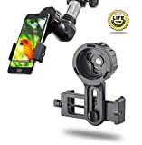Universal Cell Phone Adapter Mount Smartphone Quick Photography Adapter Mount Compatible Monocular Binocular Spotting Scope Telescope Microscope, Record The Nature The World