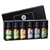 Lagunamoon Essential Oils Top 6 Gift Set Pure Essential Oils for Diffuser, Humidifier, Massage,...