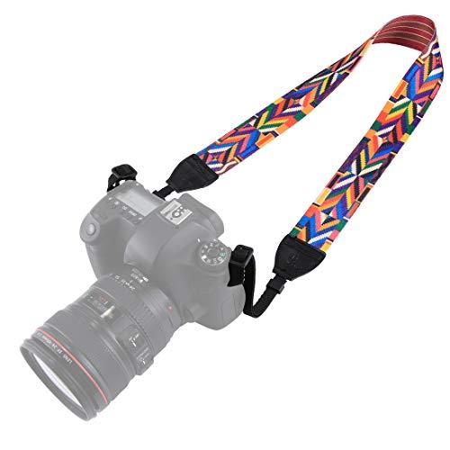 BYbrutek - Correa para cámara réflex Digital (Largo: 150 cm, Ancho: 3,8 cm)