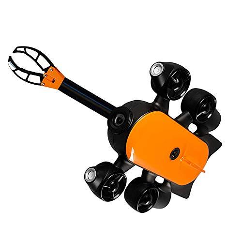 AHELT-J 150M / 100M Drone Subacqueo, Drone Sottomarino con Rilevamento di Telecamere d'azione 4K UHD in Tempo Reale, Rilevamento Subacqueo per Visualizzazione, Pesca. (Artiglio del Braccio),100m