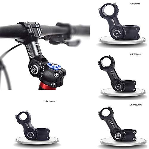 wisedwell Fahrrad Vorbauten Riser, Verstellbarer Vorbau Ahead für Vorbau Ahead MTB Mountainbikes 25,4/31,8 mm Rennräder Radsport Fahrradteile Aluminium