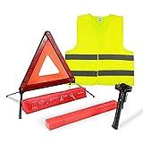 MYSBIKER Triangle d'avertissement réfléchissant pour la sécurité routière...