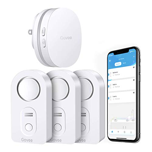 Govee WiFi Water Sensor, Smart App Leak and Drip Alert, Wireless Water Alarm with Email, Loud Alarm and App Alerts...