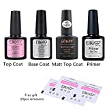 Elite99 Esmaltes Semipermanentes de Uñas en Gel UV LED, 6pcs Kit de Esmaltes de Uñas 10ml (Base y...
