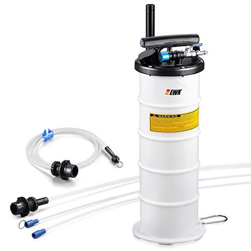 EWK Plus Version 6.5L Oil Extractor Pump Pneumatic Fluid Evacuator Vacuum Extraction Pump Manual Fluid Extractor + Brake Bleeding Hose