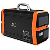 SUNGZU Portable Solar Generator 1010Wh Portable Power Station Emegency Backup Battery Pack Supply 110V/1000W AC Pure Sine Wave Outlet 2DC 4USB for Home Use and Outoor Camping Road Trip RV VAN