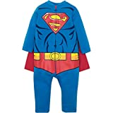 Warner Bros. Justice League Superman Toddler Boys Hooded Costume Coverall & Cape (5T)