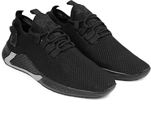 Jamesh Bond Men Running Shoes-Comfort Athletic Tennis Casual Sport Sneakers for Walking Gym (Black, Numeric_8)