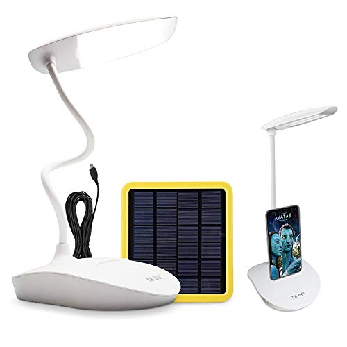 KK.BOL Solar Desk Lamp Three Levels Dimmable Led Table Lamp for Reading Bedside Light Night Light