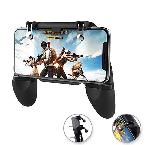 BOKA [W10] Pubg Remote Controller Gamepad 2-in-1 Upgraded Version for All Android & iOS Mobile Phones Size Upto 6.5' inch - (Black)