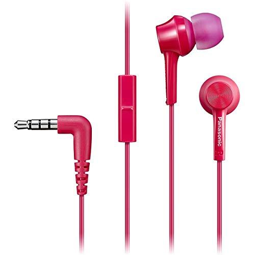 Panasonic RP-TCM115 Canal-Type in-Ear Headphones, Pink