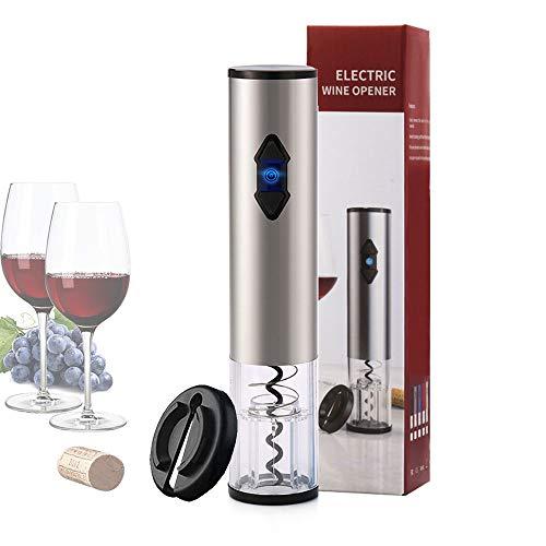 Korkenzieher Elektrisch Flaschenöffner laschenöffner Automatisch Weinöffner Edelstahl mit Folienschneider für Outdoor Party Küche Hof