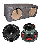 Audiopipe TXX-BD3-12 12' 3600W Car Audio Subwoofers (Pair) + Dual Vented Sub Box