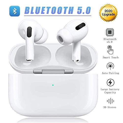 Wireless Earbuds Bluetooth 5.0 Headphones Noise Cancelling Bluetooth Headphones 3D Stereo IPX5 Waterproof Headset with Fast Charging Case for iPhone Apple Airpods pro/Android in-Ear Earbuds