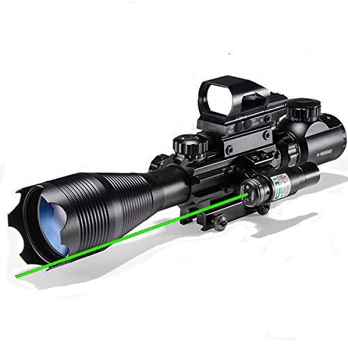 Hunting Rifle Scope Combo C4-16x50EG Dual Illuminated with...