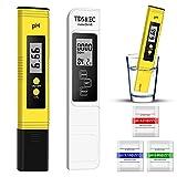 PH Mètre Numérique, TDS Testeur PH TDS EC Mètre et Température Mètre 4 en 1...