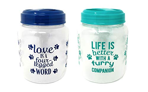 Greenbrier Blue & Teal Dog Treat Containers