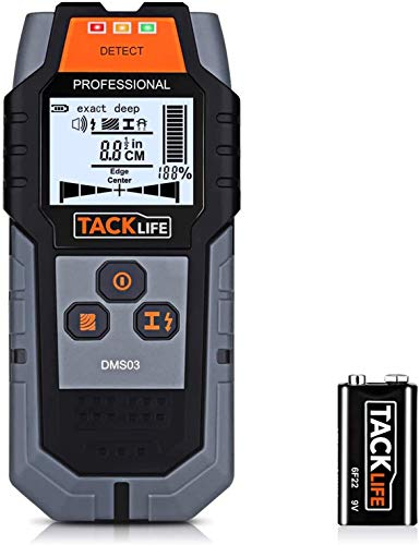 Rilevatore Digitale, TACKLIFE DMS03 Rilevatore di Metallo e Cavi Elettrici, Stud Finder, Scanner da...