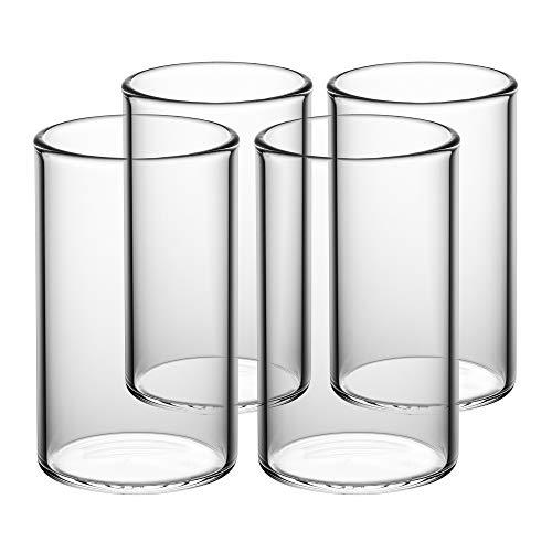 GAIWAN ICEGOLD330 x4 - Set da 4 Calici da Acqua, Bicchieri Acqua da 33 Cl (330 ml, 0.3 L, Anche 250...