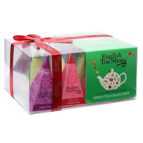 """English Tea Shop - Teegeschenk mit Schleife """"Grüner Tee Kollektion"""", BIO, 12 Pyramiden-Beutel (DE-Version)"""