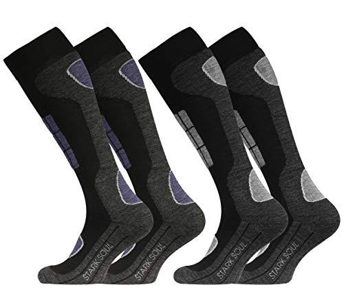 VCA SKI, 2 paia di calzini funzionali per gli sport invernali con speciale imbottitura...