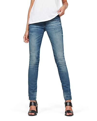 G-STAR RAW Damen Lynn Mid Waist Skinny\' Jeans, Blau (medium Aged 6550-071), 26W / 30L
