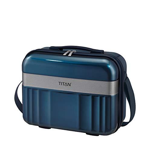 Gepäck Serie Spotlight: Edles TITAN Beautycase in trendigen Farben, leichte Handgepäck Kosmetikkoffer mit Liquids Bag + Aufsteckfunktion, 831702-22, 38 cm, 21 Liter, North Sea (Blau)