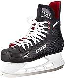 Bauer Pro Skate SR Nylons de Hockey sur Glace. Schwarz-Weiss-Rot-Si 7, 42 EU