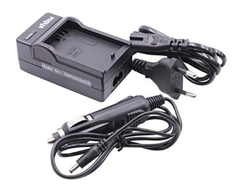 vhbw caricabatterie compatibile con Canon EOS 1000D, 450D, 500D, Kiss F, Kiss X2 fotocamera, videocamera, reflex