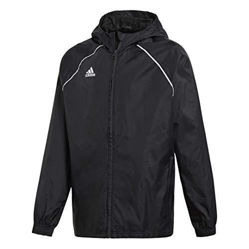 adidas Kids' Core 18 Rain Jacket, Black/White, Medium